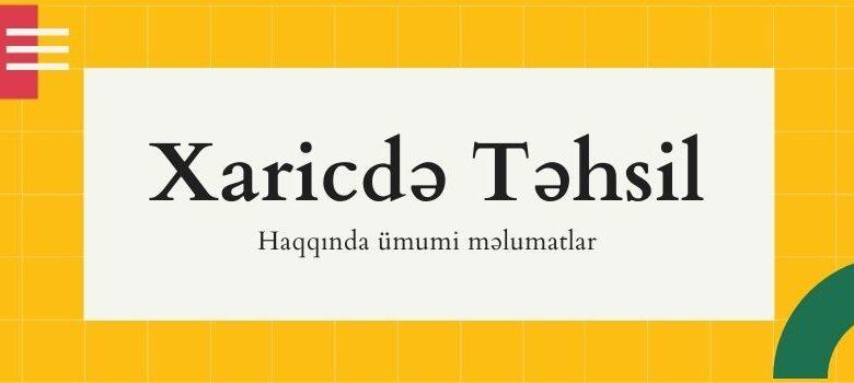xaricde tehsil almaq